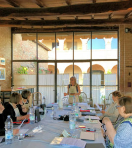 Teaching Art with tuscan arches